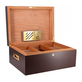 Adorini Vittoria Walnut Deluxe Humidor with Cigar Heaven - 520 Cigar Capacity