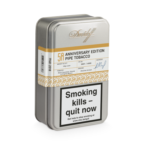 Davidoff Limited Edition 50 Years 50th Pipe Tobacco 100g Tin