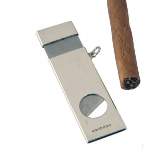 Sterling Silver Rectangle Cigar Cutter
