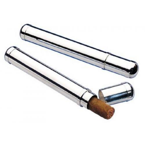 Silver Plated Cigar Tube FREE ENGRAVING