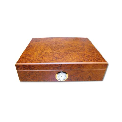 Classic Dark Burl Desk Top Humidor - 20 Cigar capacity NEW