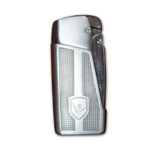 Vector General Windproof Cigarette Lighter - Chrome Satin