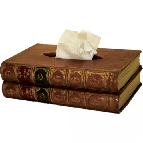 Tissue Box in 'Faux Book' Disguise